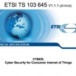 IoT Security rilasciato il primo Standard di Sicurezza