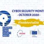 Prima di cliccare, pensaci: al via lo European Cyber Security Month 2020